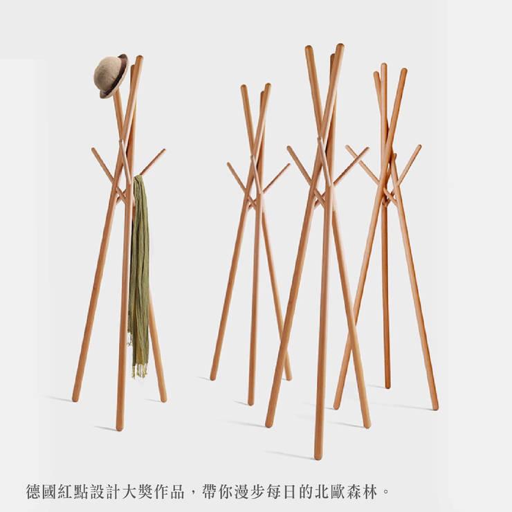 德國櫸木簡約衣帽架(德國紅點獎):  臥室 by CHENset 陳設