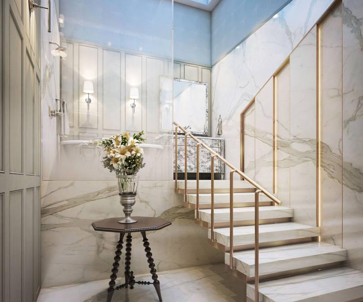 งานออกแบบรีโนเวทบ้าน:  บันได โถงทางเดิน ระเบียง by Luxxri Design