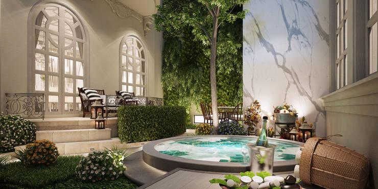 งานออกแบบรีโนเวทบ้าน:  สวน by Luxxri Design