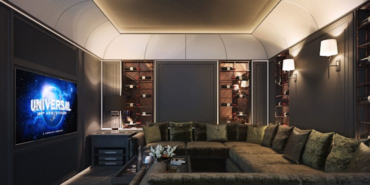 งานออกแบบรีโนเวทบ้าน:  ที่เก็บไวน์ by Luxxri Design
