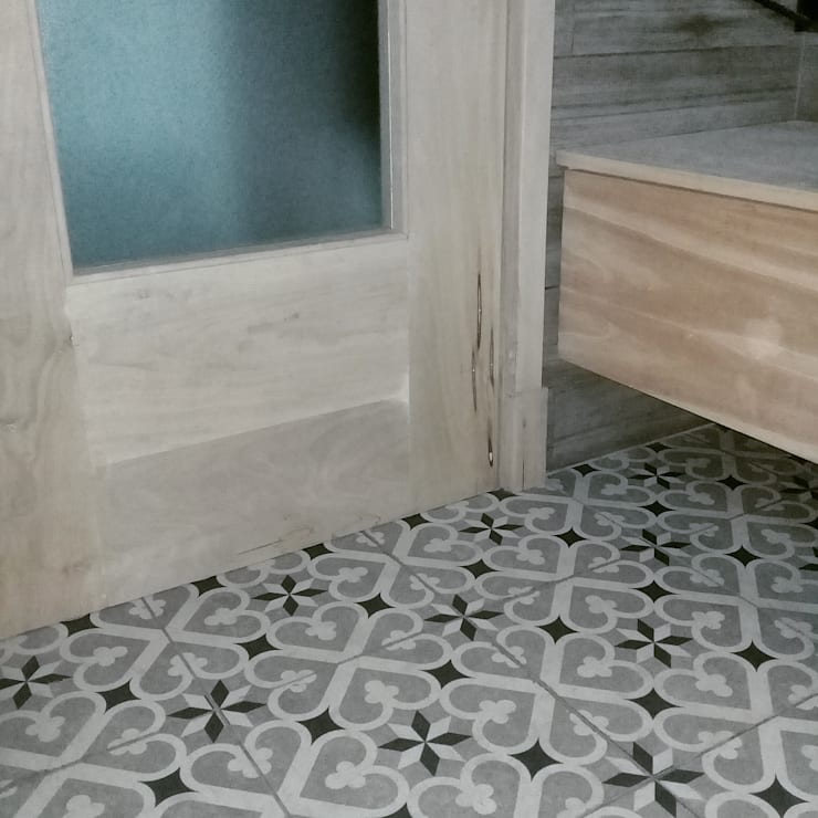 BAÑO : Baños de estilo rústico por CRUZAT ARQUITECTURA Y CONSTRUCCION
