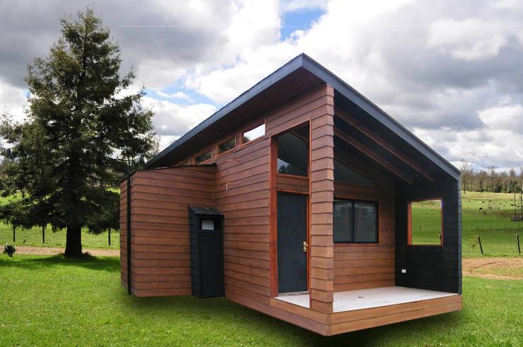 Refugio M-1, Pucón : Cabañas de estilo  por Casabella