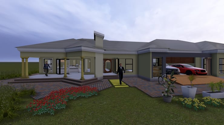 Dr Ndlovu family house :   by iRON B HOME DESIGN