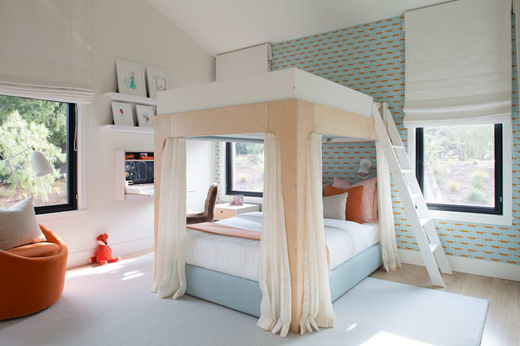 Woodpecker Ranch:  Bedroom by Feldman Architecture