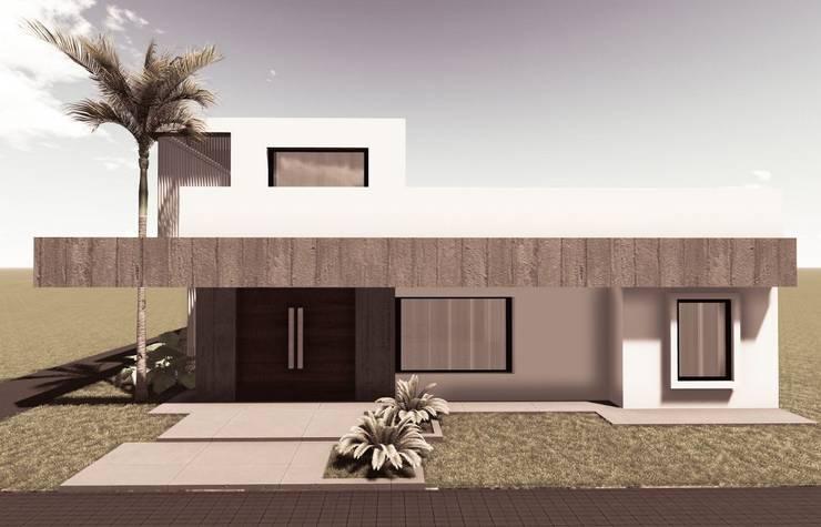VIVIENDA UNIFAMILIAR FD: Casas unifamiliares de estilo  por PRIGIONI Arquitectura y Diseño