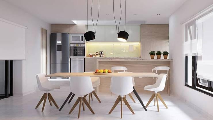 VIVIENDA UNIFAMILIAR FD - VILLA ASCASUBI: Cocinas de estilo  por PRIGIONI Arquitectura y Diseño