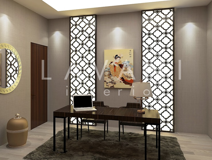 Chinese Style Work Room :  Ruang Kerja by Lavani Interior