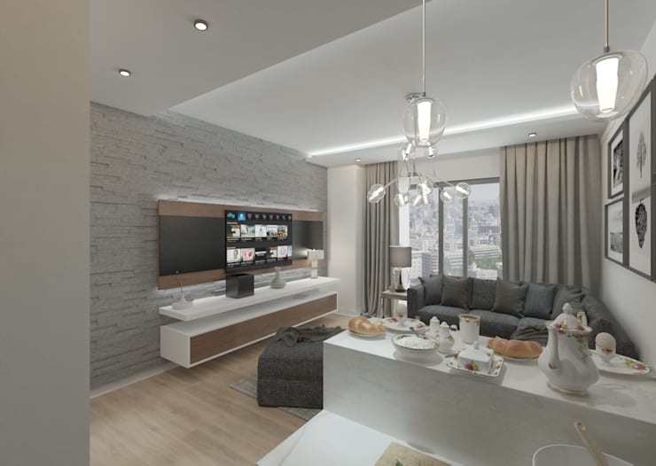 غرفة المعيشة تنفيذ 50GR Mimarlık, حداثي