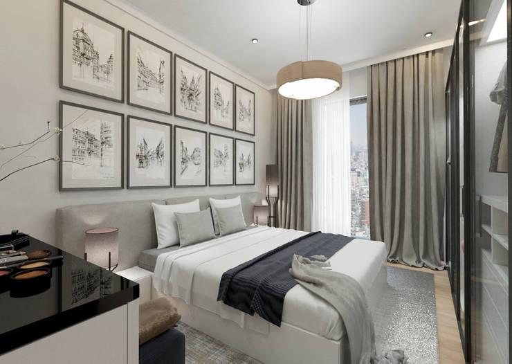 غرفة نوم تنفيذ 50GR Mimarlık, حداثي