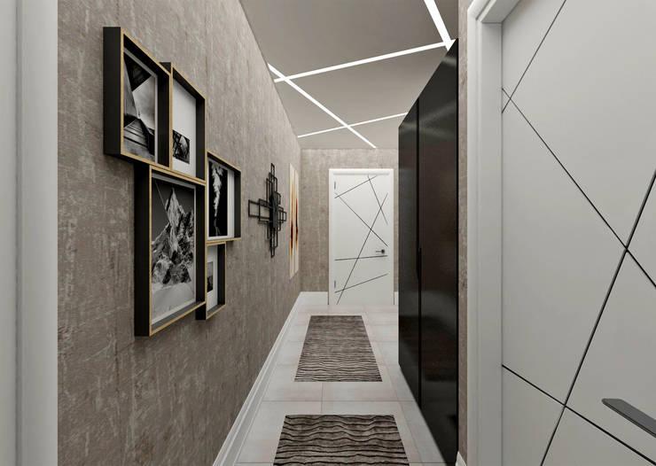 Pasillos y recibidores de estilo  por 50GR Mimarlık