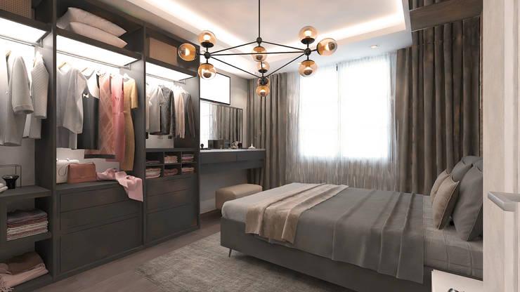 50GR Mimarlık – Emre Çolak evi: modern tarz Yatak Odası