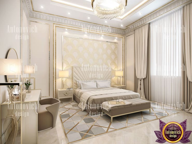 ​Amazing home designs LA by Katrina Antonovich: modern Bedroom by Luxury Antonovich Design