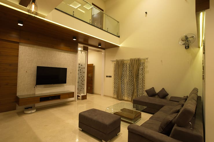 Living room: modern Living room by Hasta architects