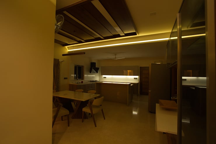 dining room: modern Dining room by Hasta architects