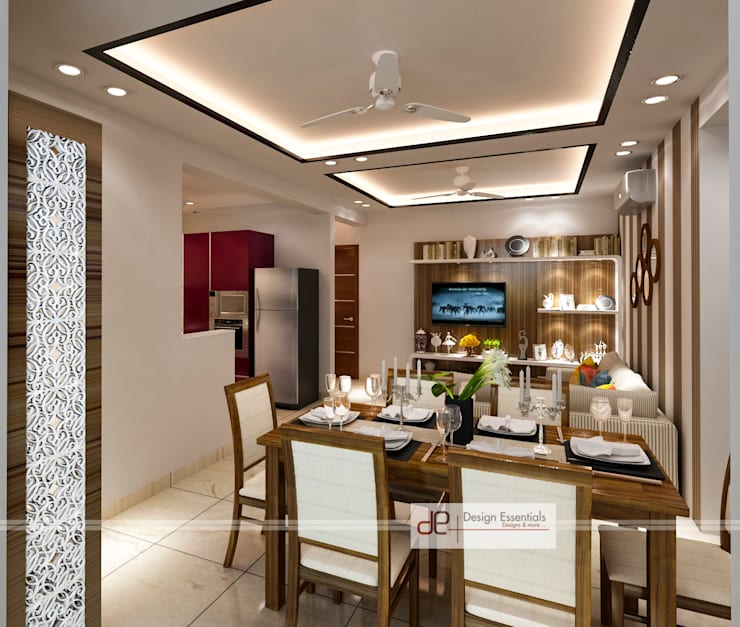 DDA flat at Vasant Kunj: minimalistic Dining room by Design Essentials