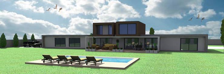 CASA CHICUREO :  de estilo  por Incubar: Arquitectura & Construcción