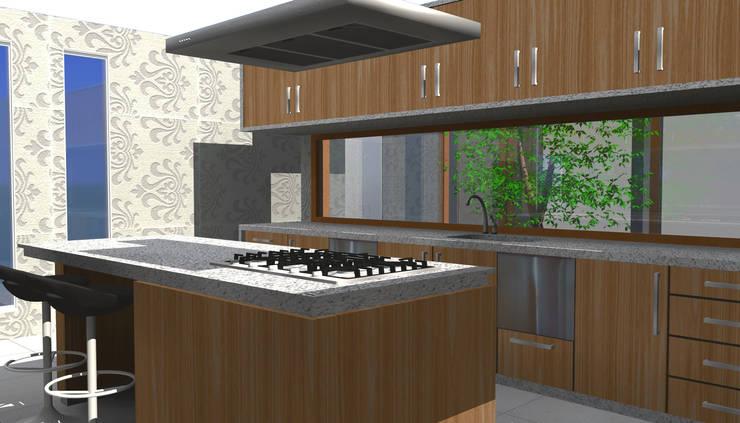 CASA CHICUREO : Cocinas de estilo  por Incubar: Arquitectura & Construcción
