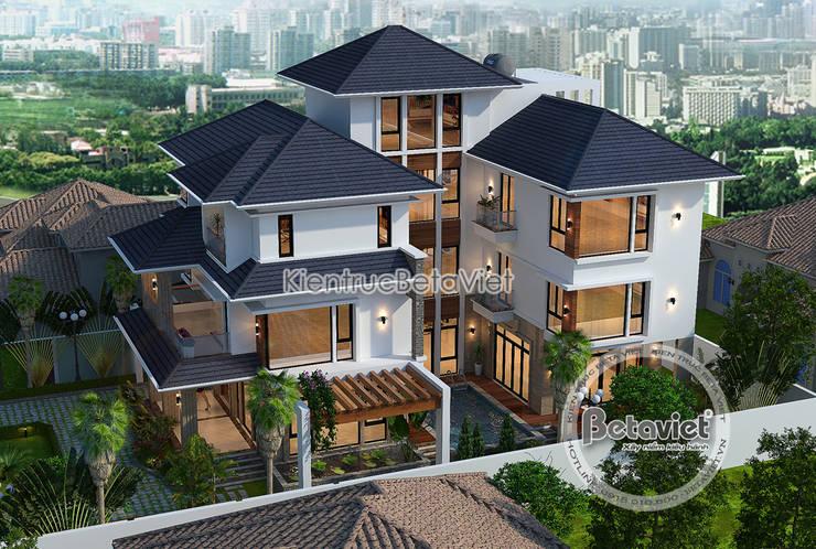 Phối cảnh mẫu thiết kế biệt thự hiện đại 3 tầng có bể bơi ( CĐT: Ông Sơn - Hà Nội) KT17109:   by Công Ty CP Kiến Trúc và Xây Dựng Betaviet