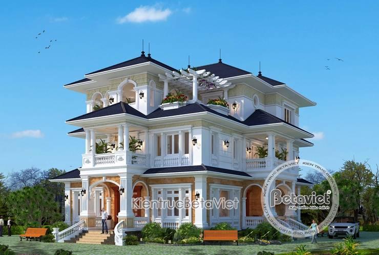 Phối cảnh mẫu biệt thự 3 tầng kiến trúc châu Âu nhà Ông Sơn - Sơn La KT17093:   by Công Ty CP Kiến Trúc và Xây Dựng Betaviet