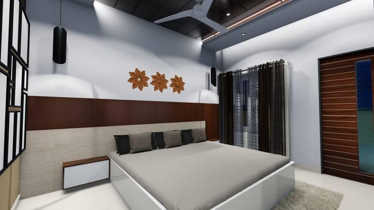 Chunilal Bungalow @ Vijayapura: classic Bedroom by Cfolios Design And Construction Solutions Pvt Ltd