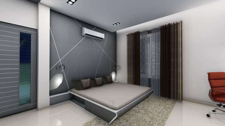 Chunilal Bungalow @ Vijayapura:  Walls & flooring by Cfolios Design And Construction Solutions Pvt Ltd