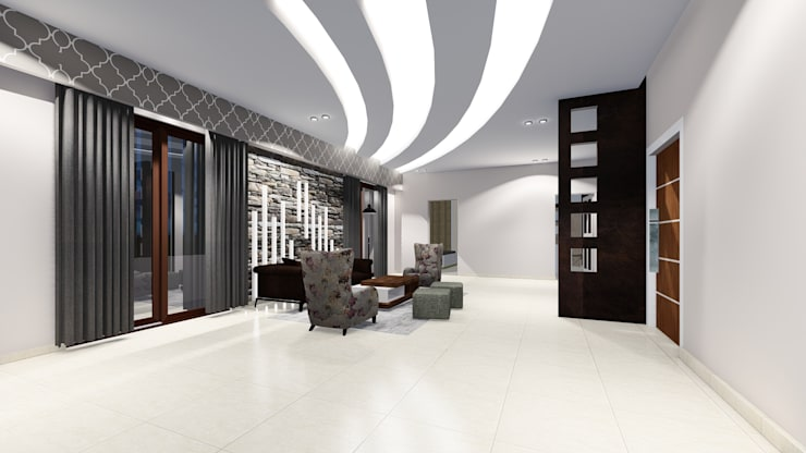 Chunilal Bungalow @ Vijayapura: classic Living room by Cfolios Design And Construction Solutions Pvt Ltd