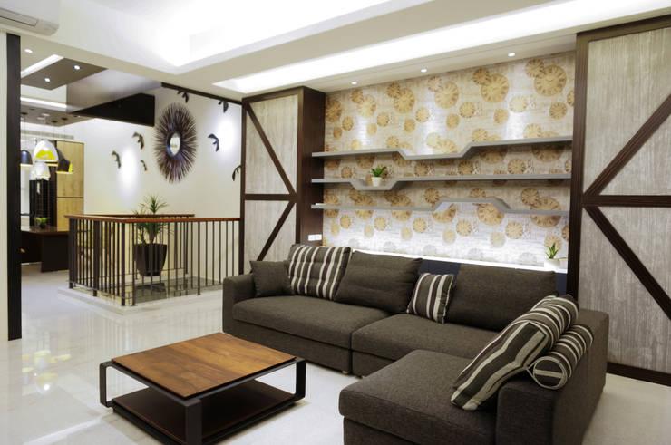 住宅設計 / 李小姐:  客廳 by 沐築空間設計