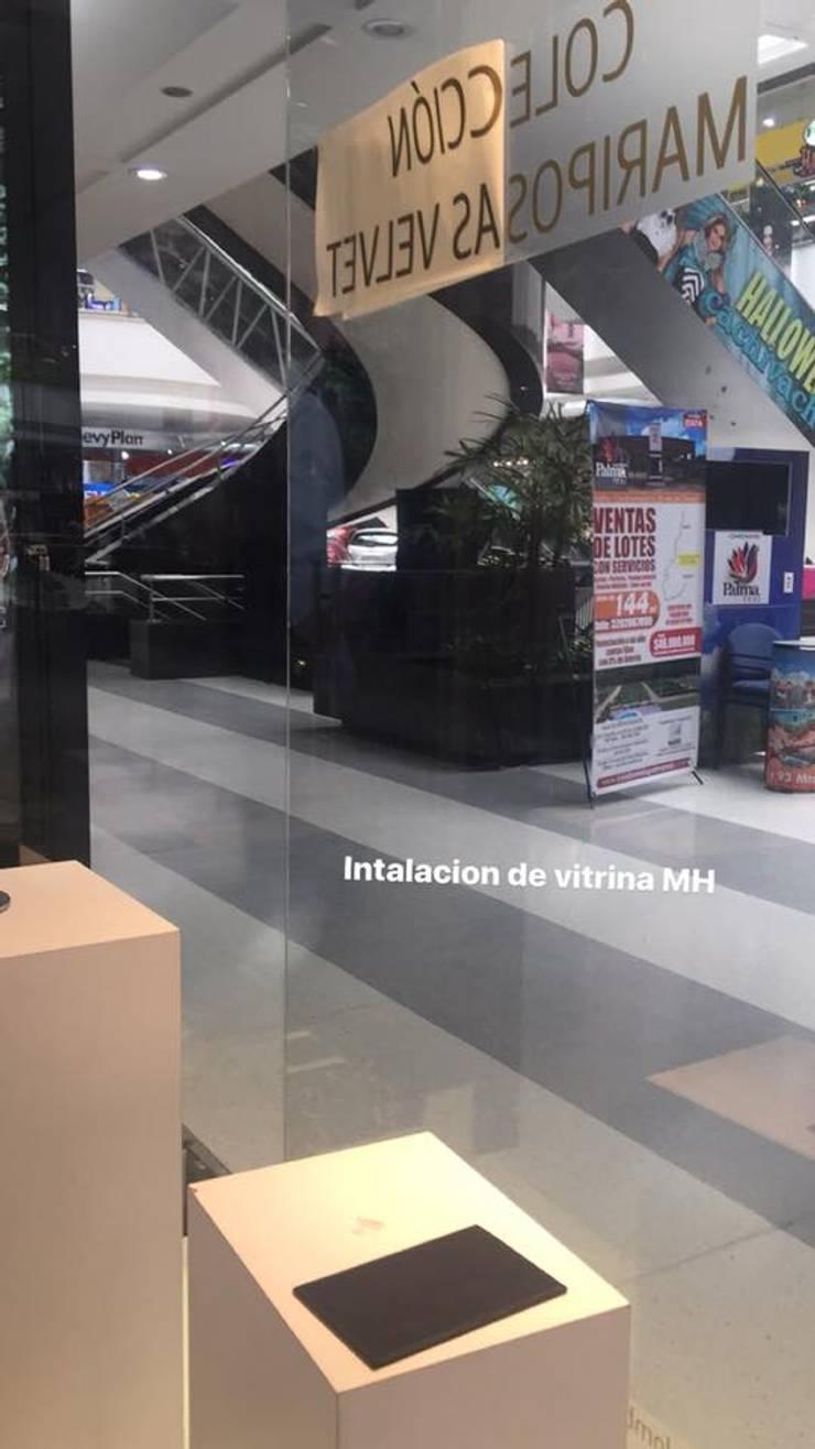 Fabricación de Mobiliario para Mario Hernandez: Oficinas y tiendas de estilo  por Felipe Lara &  Cía