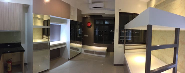 Condo Unit:  Bedroom by Yaoto Design Studio