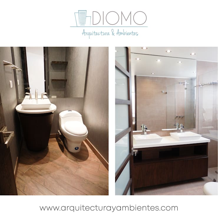 Baños: Baños de estilo  por Diomo Arquitectura y Ambientes