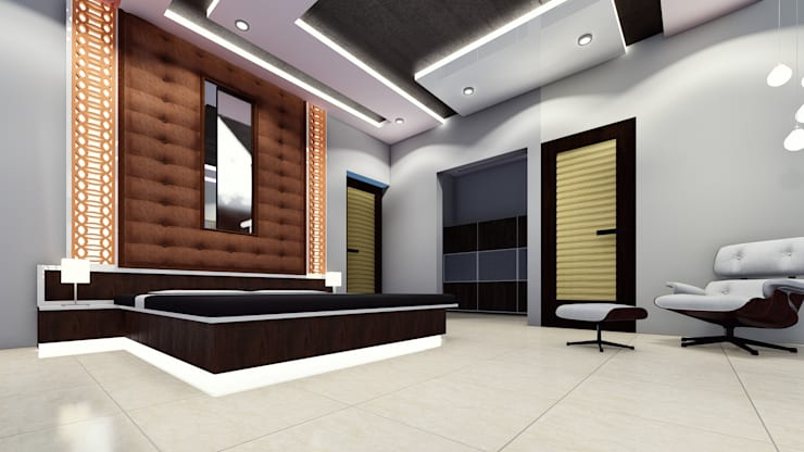 Amruta Patil @ Hubli: classic Bedroom by Cfolios Design And Construction Solutions Pvt Ltd