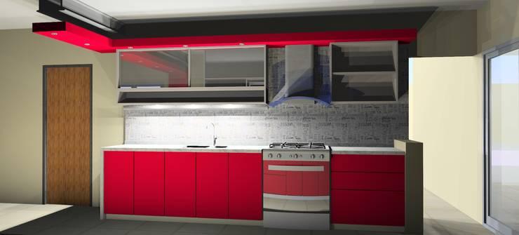 Variante 01: Cocinas de estilo  por Arq. Melisa Cavallo,