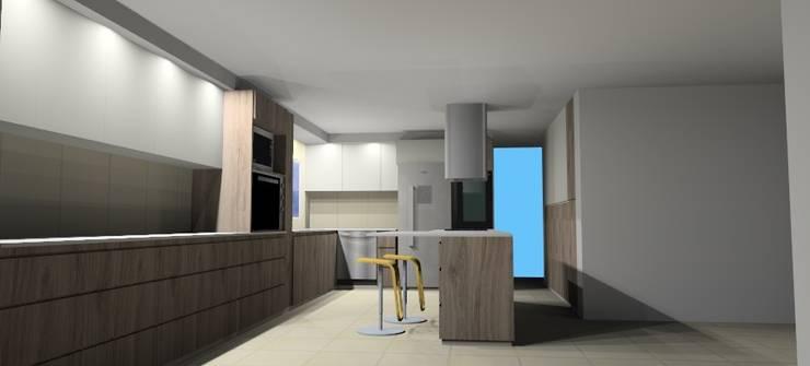 Remodelacion Capilla del Monte: Cocinas a medida  de estilo  por Arq. Melisa Cavallo