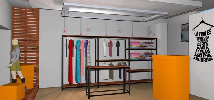 Proyecto, vista interior : Vestidores y placares de estilo  por Arq. Melisa Cavallo