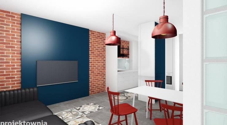 Tobaco Park: styl , w kategorii Salon zaprojektowany przez Projektownia Marzena Dąbrowska