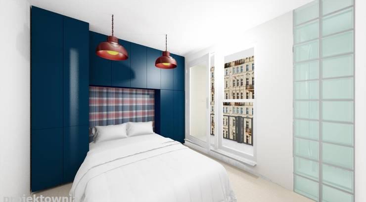 Tobaco Park: styl , w kategorii Sypialnia zaprojektowany przez Projektownia Marzena Dąbrowska