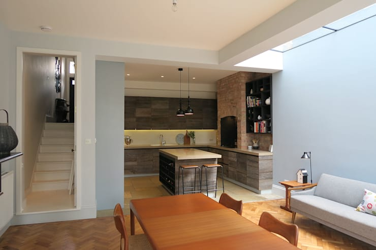 Kitchen & Dining:  Built-in kitchens by A2studio