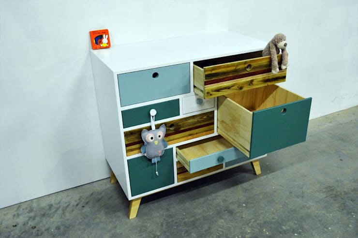Commode / Kinderkast:  Kinderkamer door Atelier 180