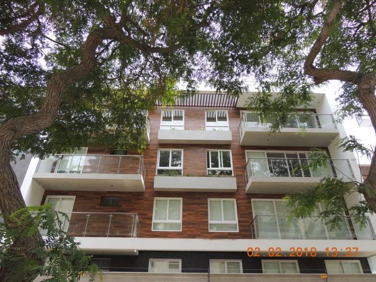 Residencial Green View: Casas multifamiliares de estilo  por Prototype Arquitectos S.A.C.