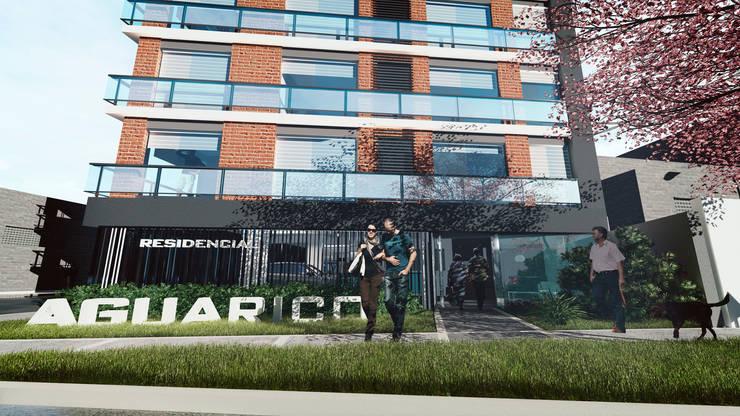 Residencial Aguarico: Casas multifamiliares de estilo  por Prototype Arquitectos S.A.C.