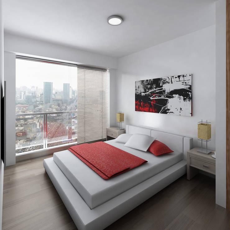 Residencial Aguarico: Dormitorios de estilo  por Prototype Arquitectos S.A.C.