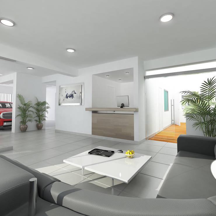 Residencial Aguarico: Salas / recibidores de estilo  por Prototype Arquitectos S.A.C.