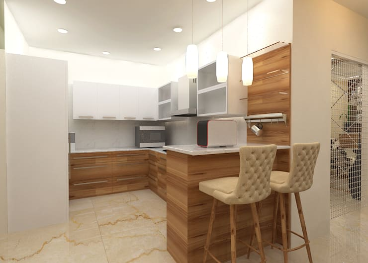 ATS hamlet One, NOIDA:  Kitchen by Form & Function,Modern