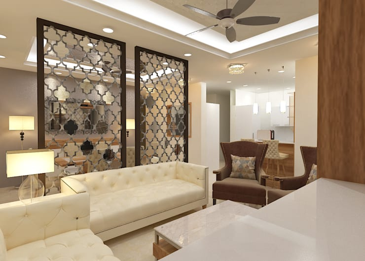 ATS hamlet One, NOIDA:  Living room by Form & Function,Modern
