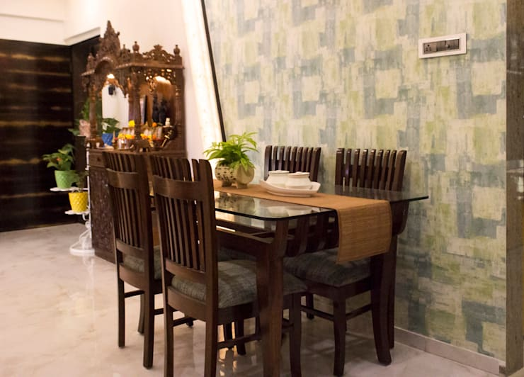 Residential Interior of 2bhk:  Dining room by ENTWURF