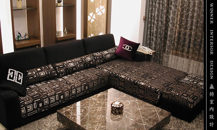 Living room by 贏特室內裝修工程有限公司  Winner Interior Design, Modern