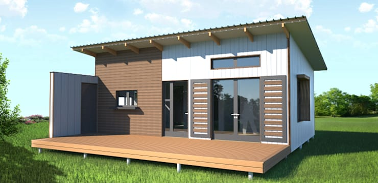 Modular house ready for export or local market.:   by Greenpods