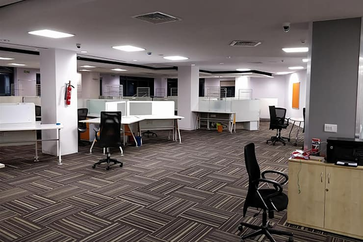 Corporate Office Interior Design | Scale Inch:  Commercial Spaces by Scale Inch Pvt. Ltd.