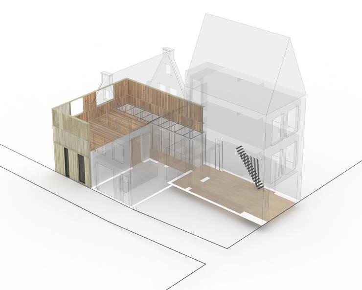 Woonhuis Prinsengracht:   door Bas Vogelpoel Architecten