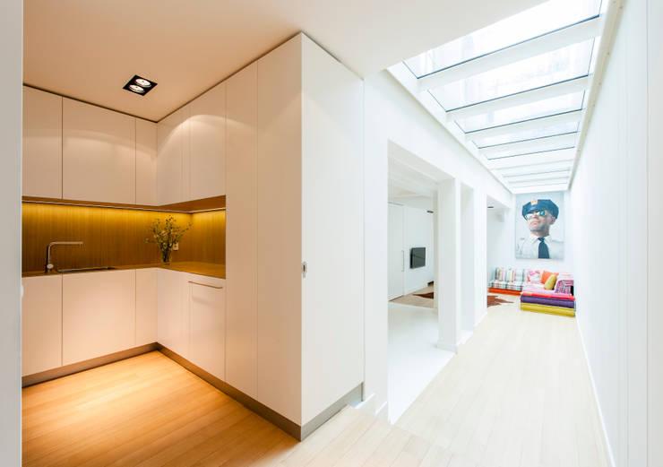 Woonhuis Prinsengracht:  Inbouwkeukens door Bas Vogelpoel Architecten